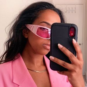 RARE Vintage Dior Pink Sunglasses With Case